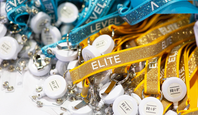 SPARKLY TITLE LANYARD